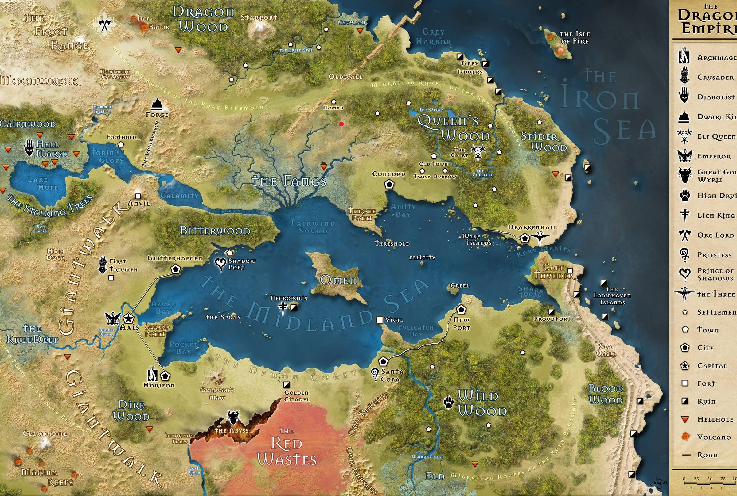 Image result for dragon empire 13th age, map
