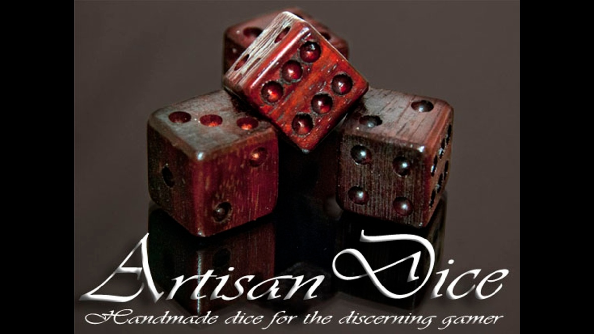 Artisan Dice: Ancient Bog Oak